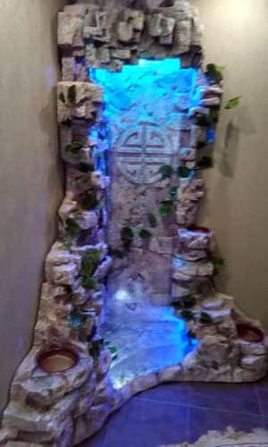 Водопад для дома из пенополиуретана