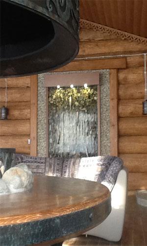 Водопад в сауне
