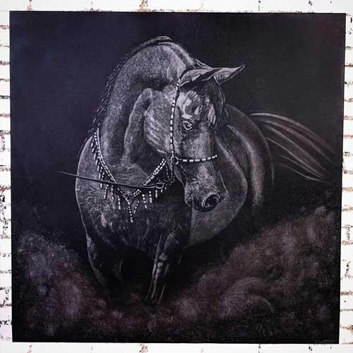 Картина с изображением лошади