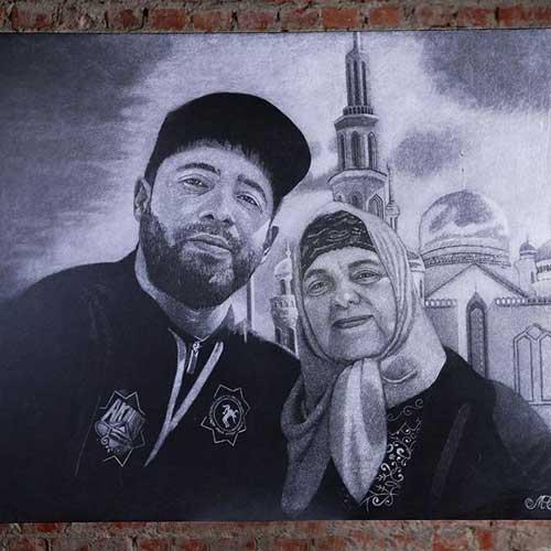 Картина сына с матерью