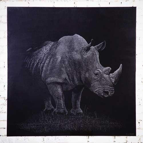 Картина носорога