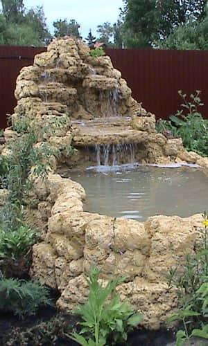 Водопад уступами на даче