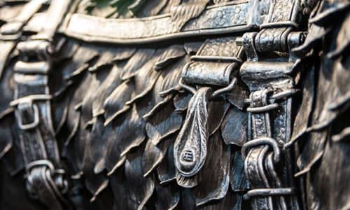 Деталь кованого мангала