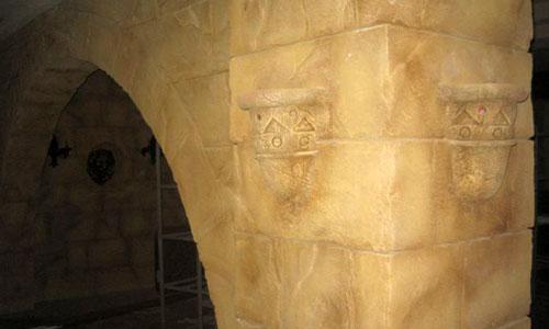Фрагмент отделки стены