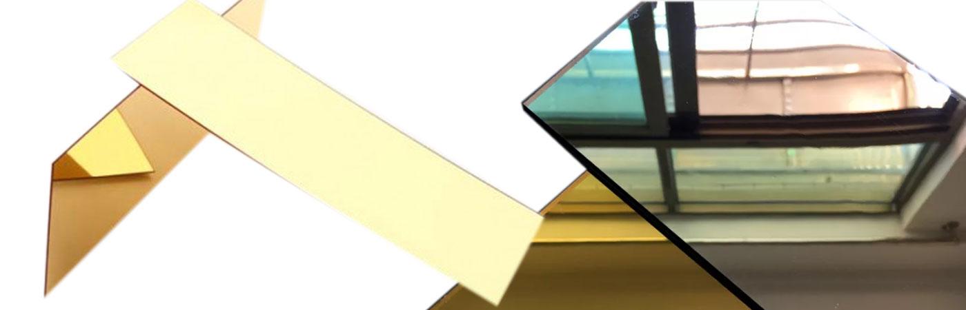 Образцы зеркального водоската