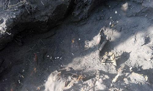 Выемка грунта из рва