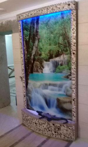 Водопад с фотопечатью