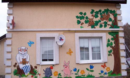 Роспись стены клиники