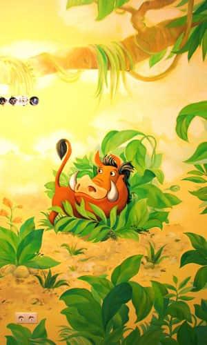 Декоративная роспись стен детской