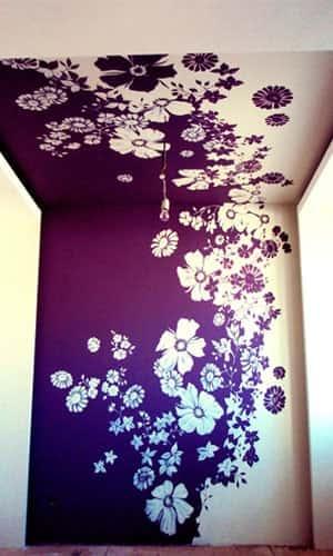 Роспись стены с спальной