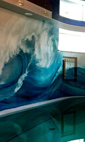 Роспись стены бассейна