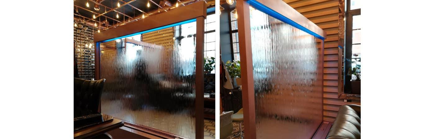 Декоративный водопад в салоне