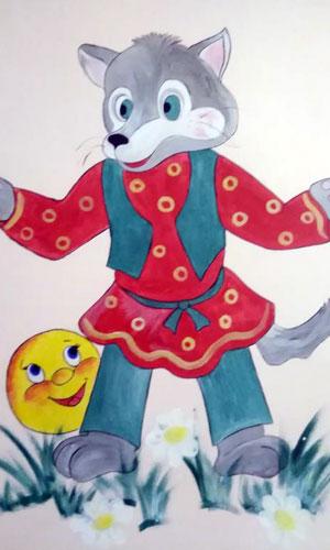 Персонаж мультфильма колобок